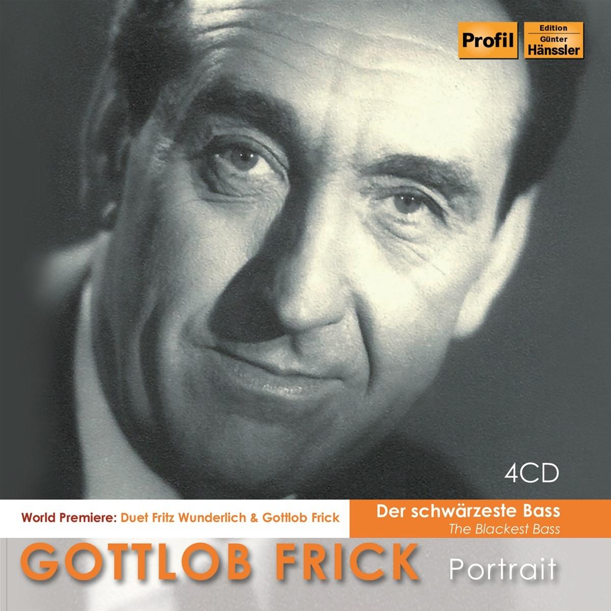 """Gottlob Frick Portrait-""""Schwärzester Bass"""""""