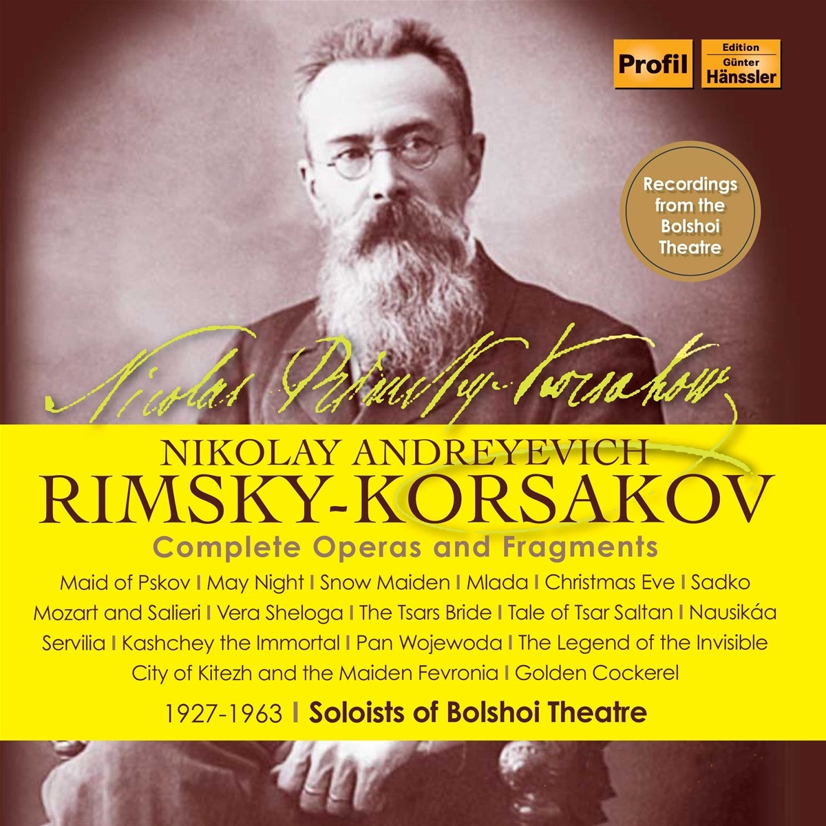 Rimsky Korsakov. Sämtliche Opern 1946-1963 Bolshoi