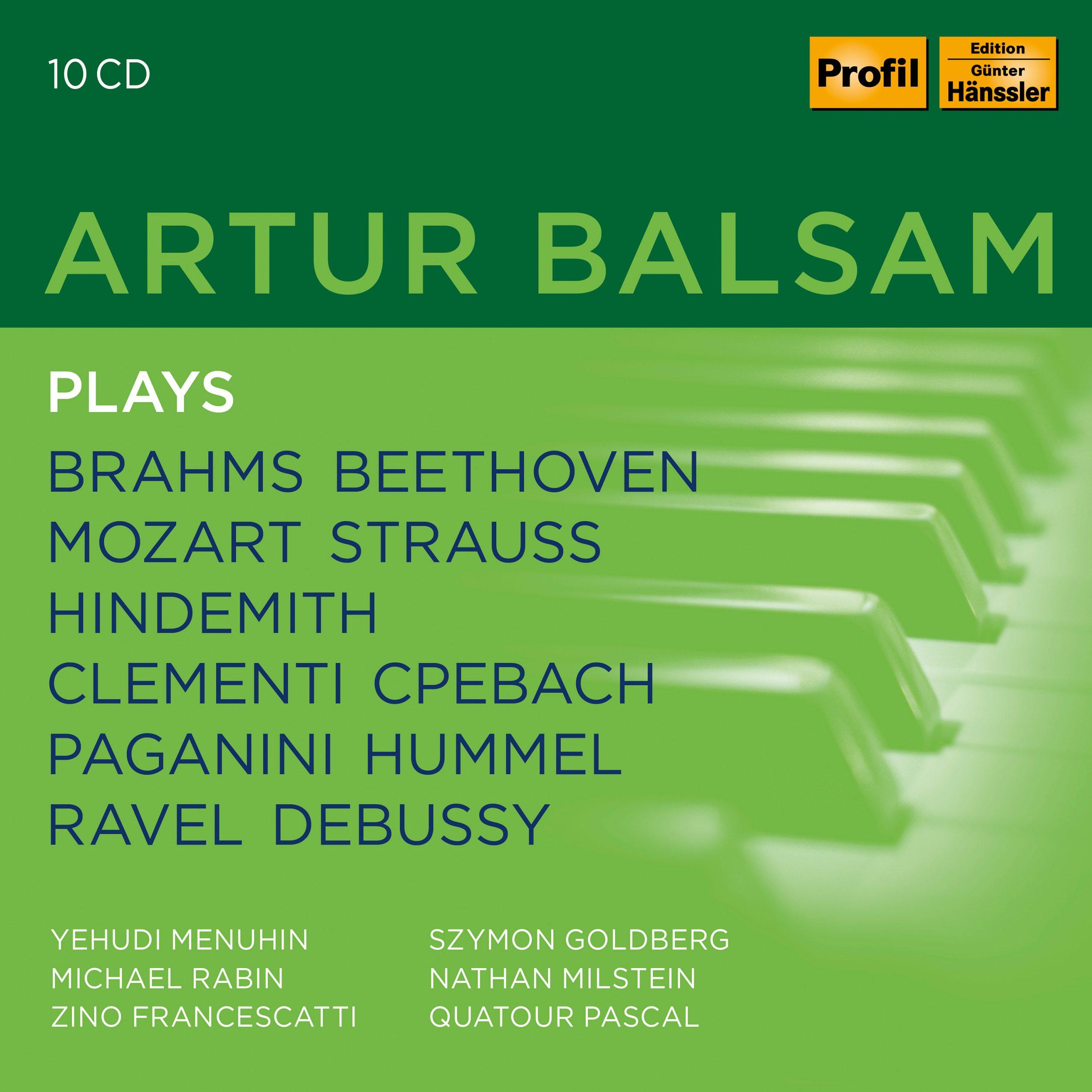 ARTUR BALSAM PLAYS Balsam,Artur/+